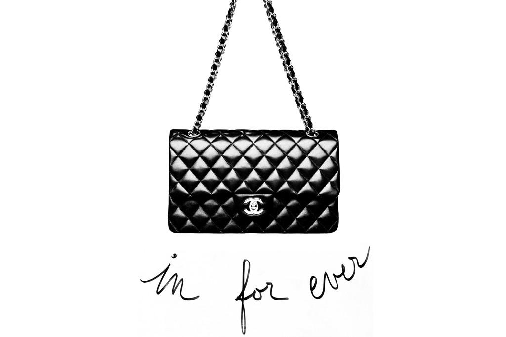 A classic Chanel handbag.