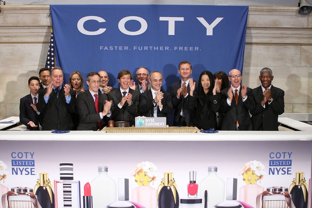 Coty executives at the New York Stock Exchange.