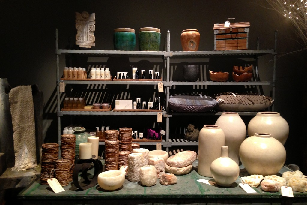A view of Donna Karan's Urban Zen Holiday Marketplace.