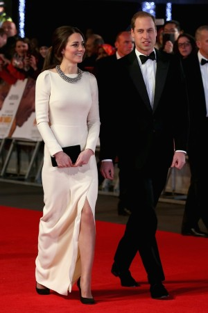 The Duke and Duchess of Cambridge arrive at the Royal Film Performance of Mandela: Long Walk to Freedom in London Thursday night.