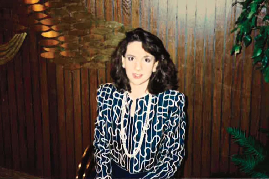 Elana Drell Szyfer as a teenager