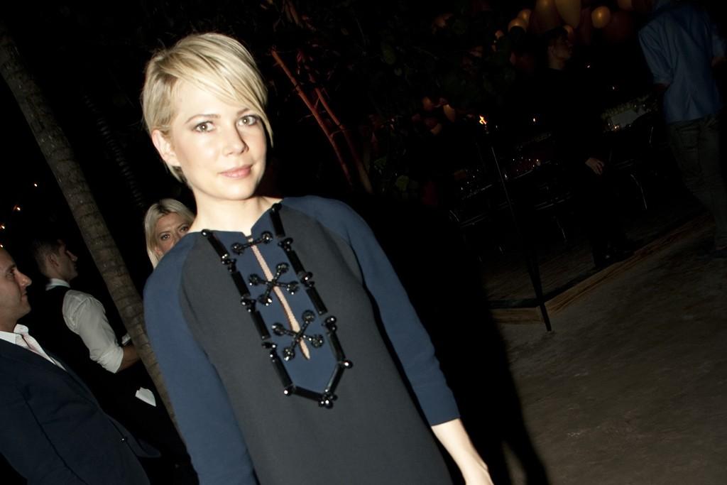 Michelle Williams in Louis Vuitton.