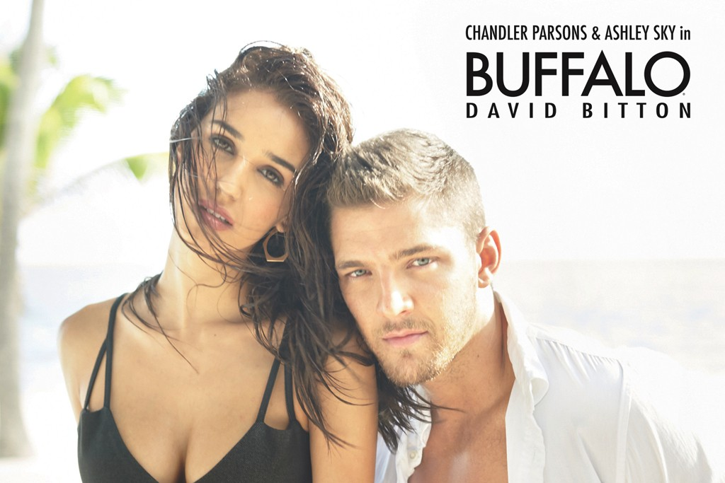 The Buffalo campaign with Chandler Parsons and Ashley Sky.