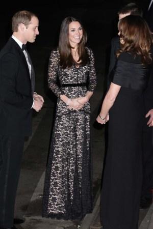 The Duchess of Cambridge in Temperley London.