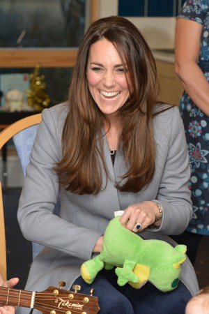 The Duchess of Cambridge in a Reiss blazer.