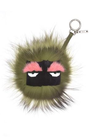 A Fendi furry bag charm.