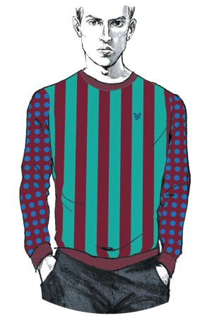 A Jonathan Saunders x Lyle & Scott sweater.