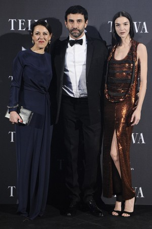 Olga Ruiz Minguito, Riccardo Tisci and Mariacarla Boscono.