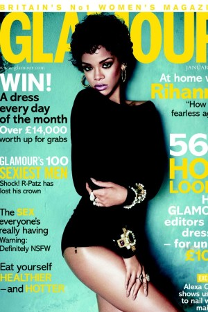 The cover of the January issue of British Glamour