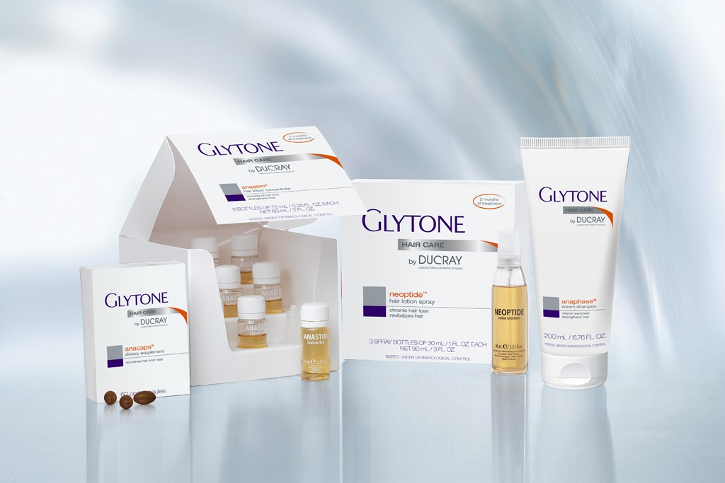 Products form Glytone by Ducray.