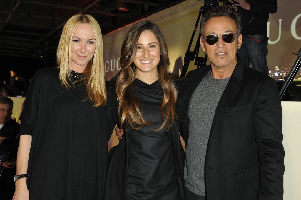Frida Giannini, Jessica and Bruce Springsteen.