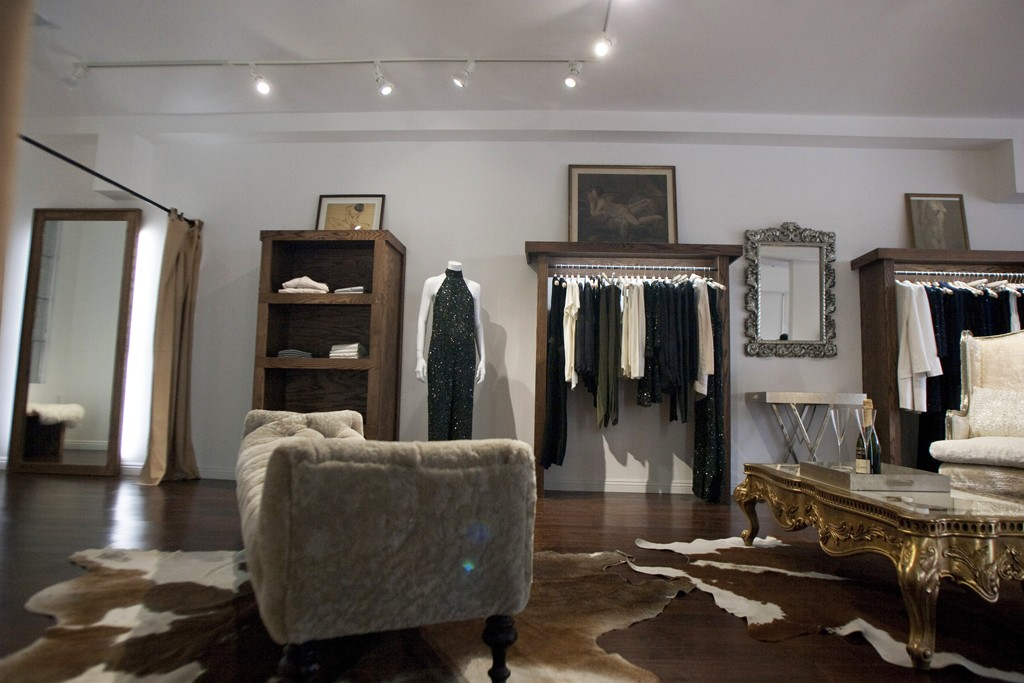 Inside Haute Hippie's store on Sunset Boulevard in West Hollywood.