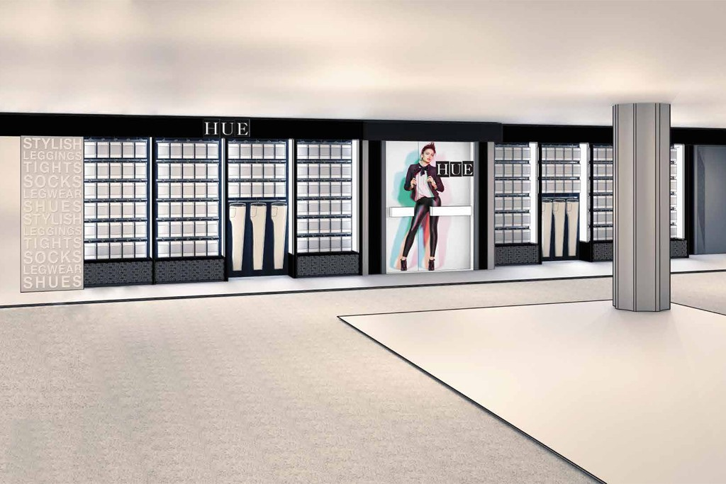 A rendering of Hue's new shop format at Macy's Herald Square.