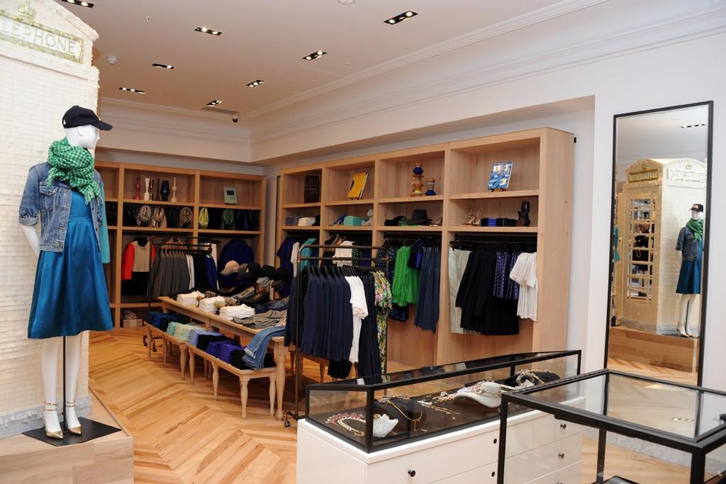 Inside the J. Crew flagship on Regent Street in London.