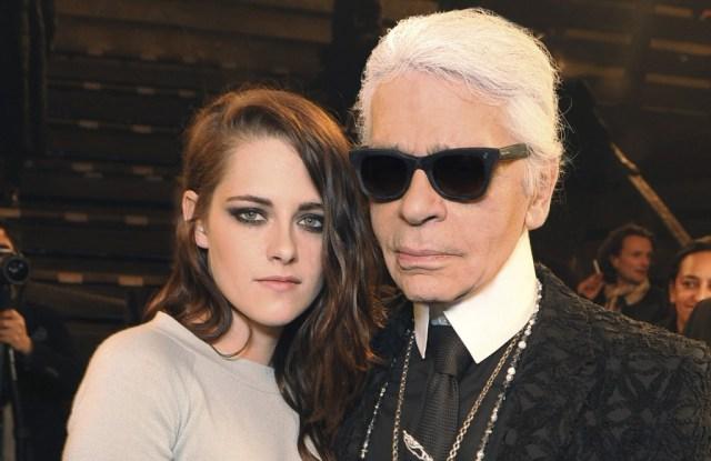 Kristen Stewart and Karl Lagerfeld