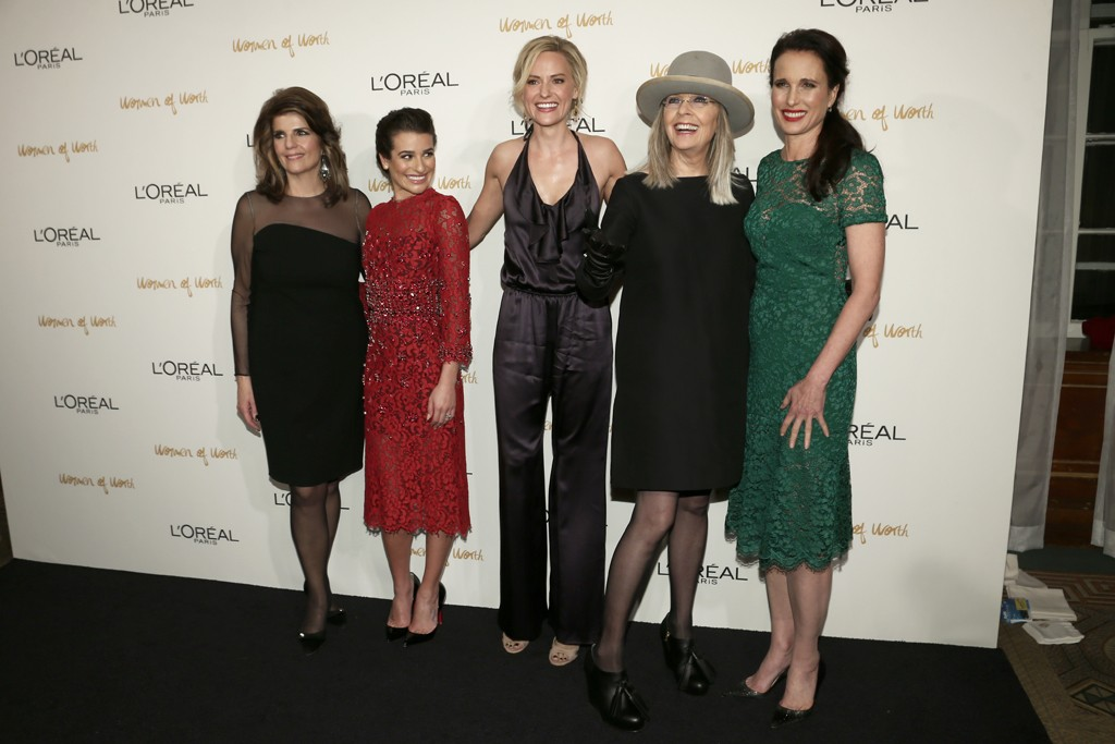 Karen Fondu, Lea Michele, Aimee Mullins, Diane Keaton and Andie MacDowell.