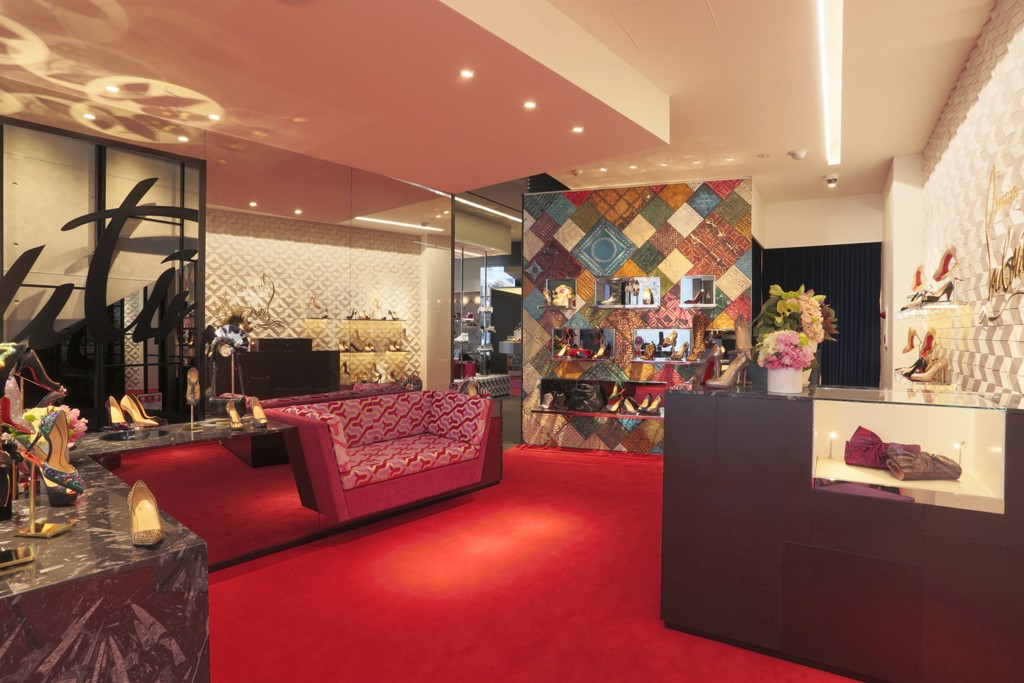 The Christian Louboutin store in Tokyo's Aoyama district