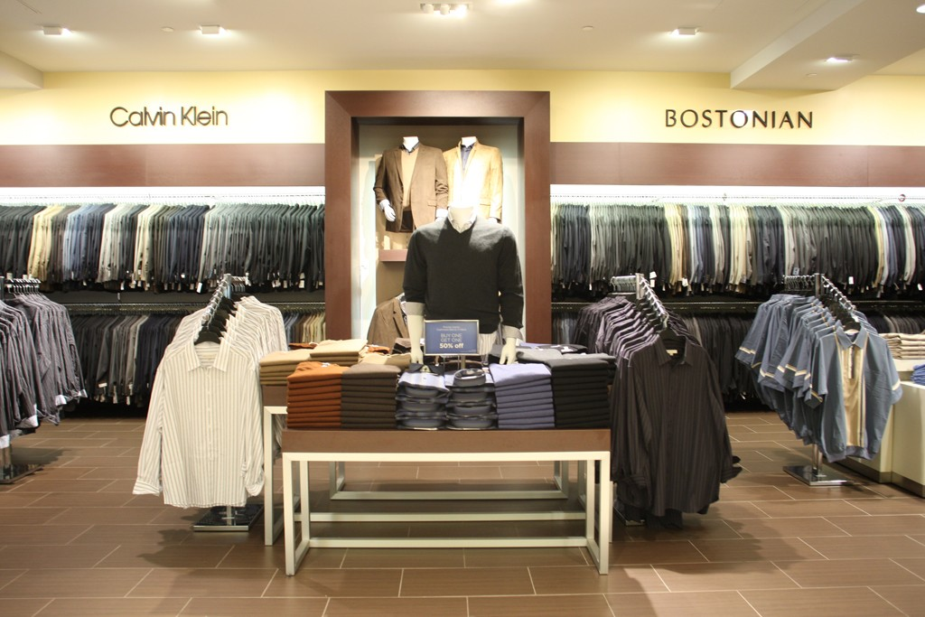 A view of the Men's Wearhouse Big & Tall store.