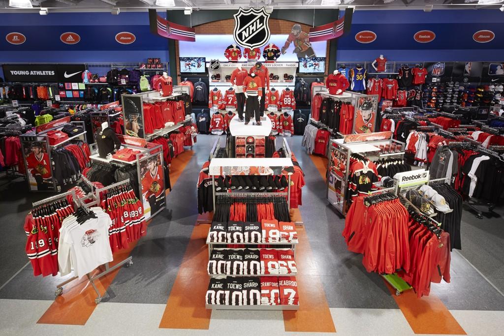 Inside a National Hockey League's NHL Super Shop.