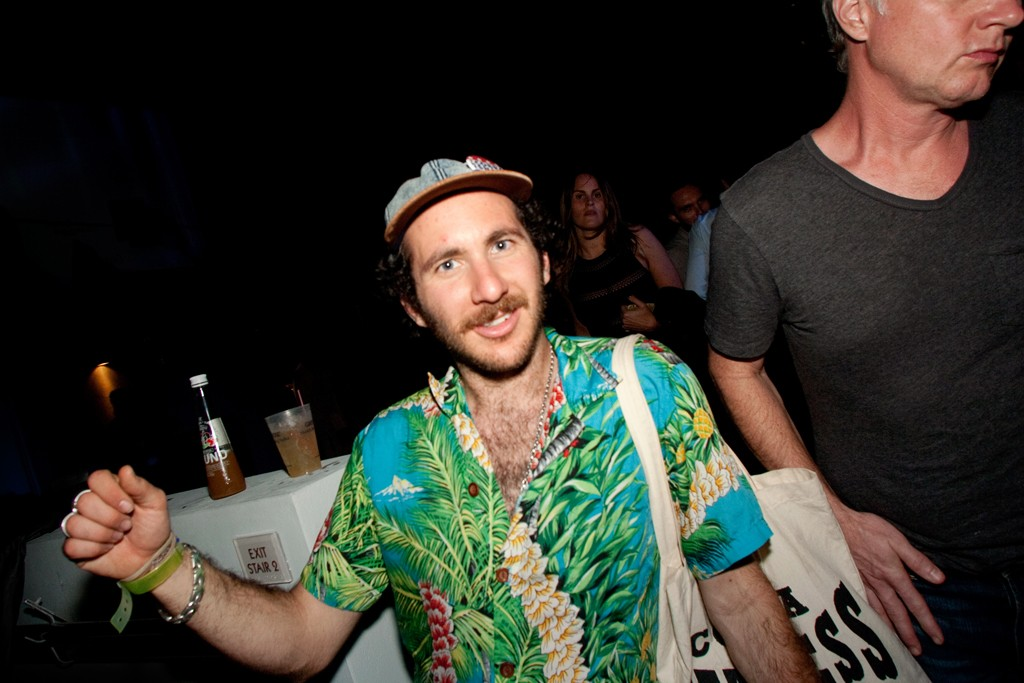 A partygoer at the Interview x Ohwow party during Art Basel Miami Beach.