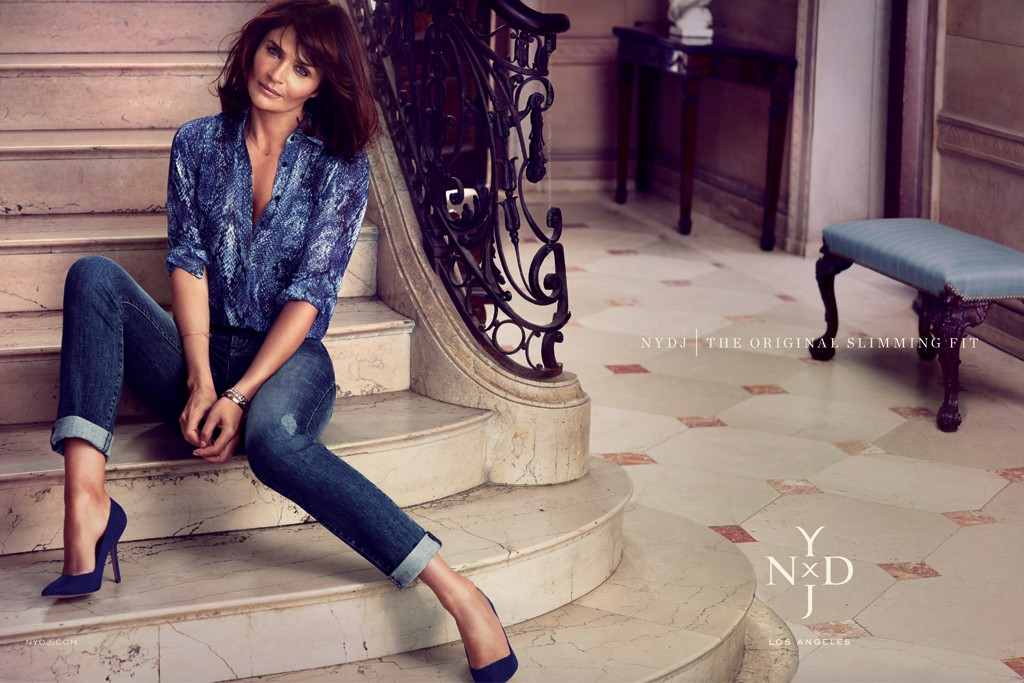 NYDJ's ad campaign featuring Helena Christensen.