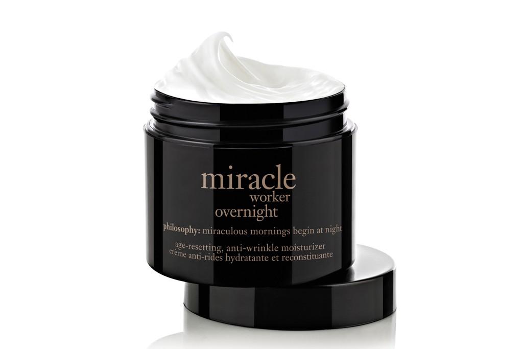 Philosophy's Miracle Worker Overnight moisturizer.