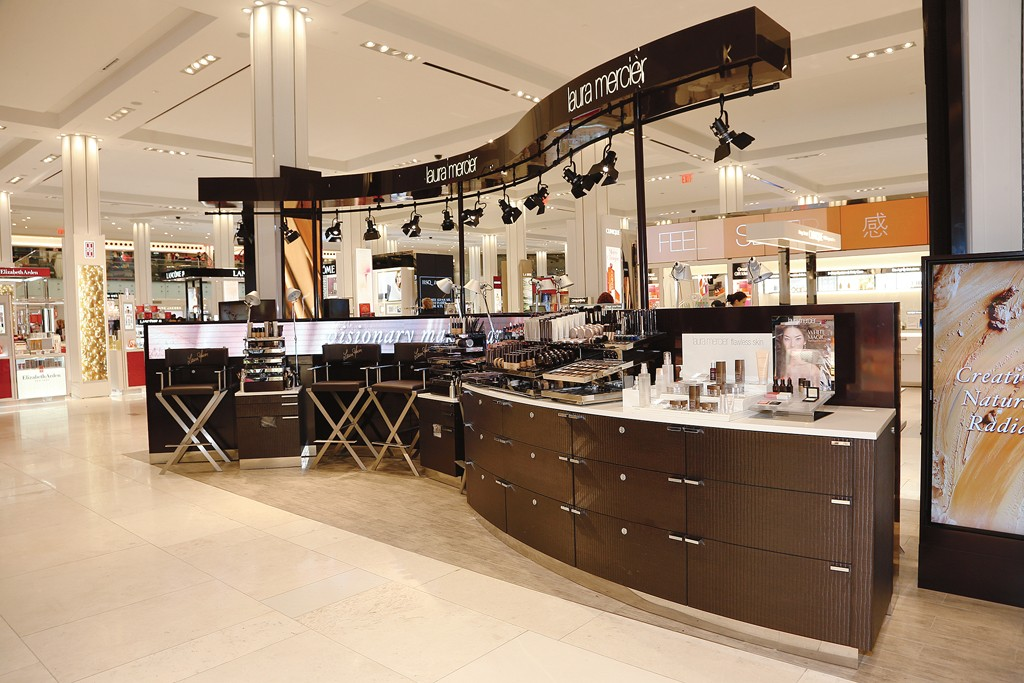 The beauty floor at Macy's Herald Square.