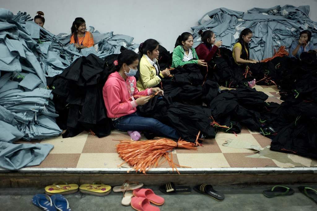 Inside the SL Garment Processing Factory.