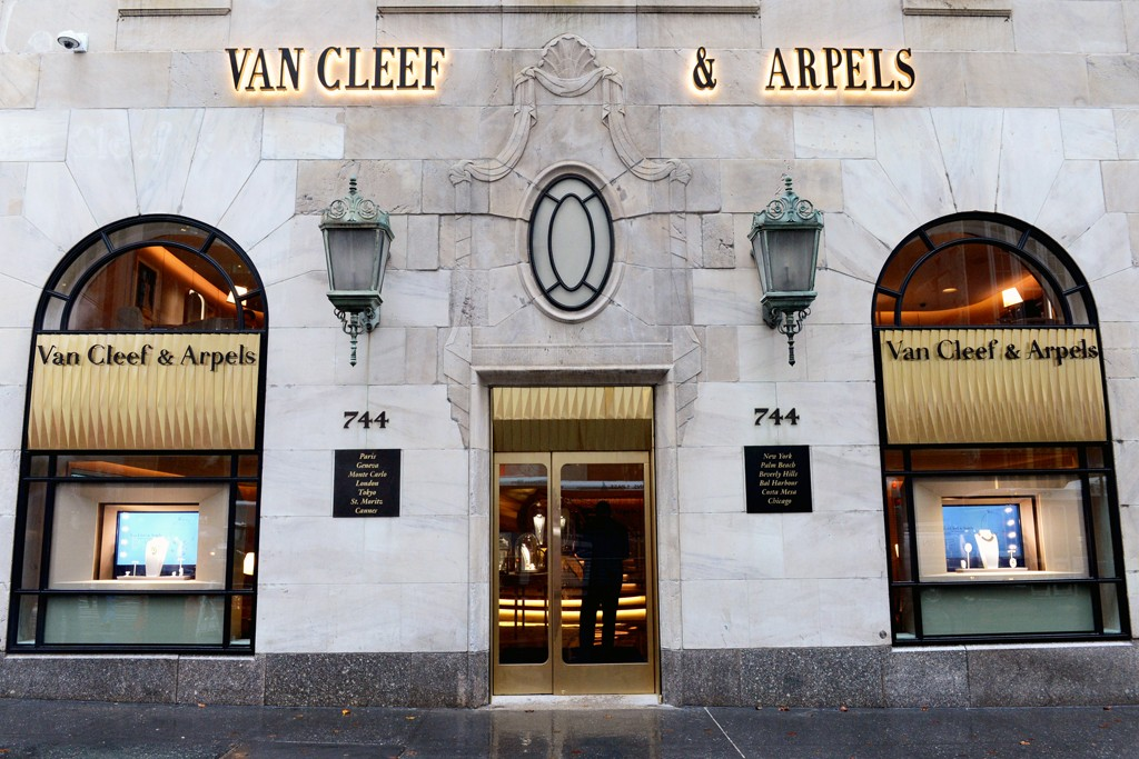 Outside the Van Cleef & Arpels store on Fifth Avenue in New York.