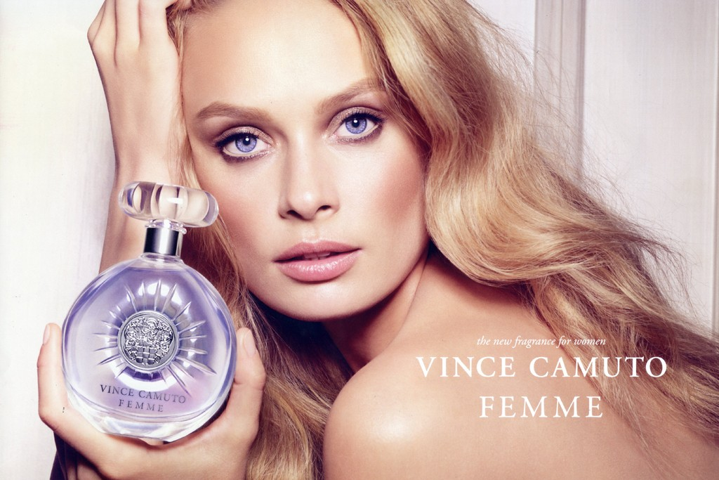 An ad for Vince Camuto's Femme fragrance.