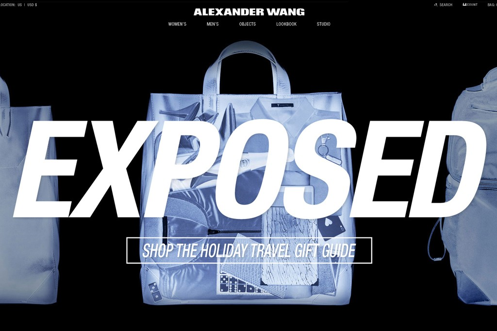 Alexander Wang's redesigned web site.