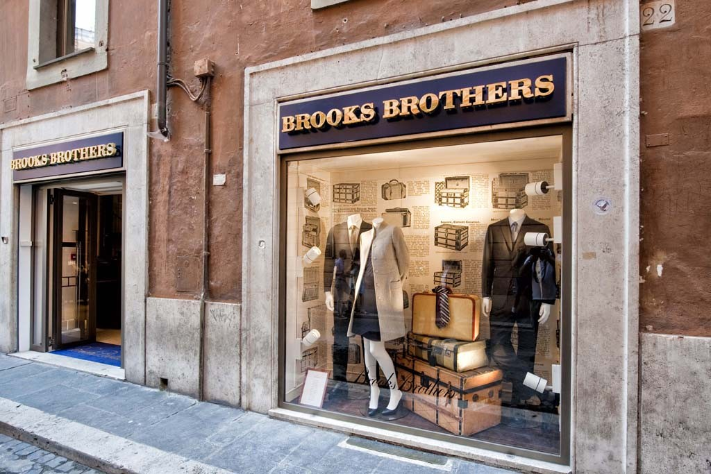 The Brooks Brothers flagship in Rome.