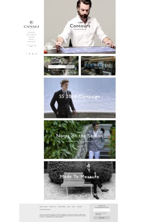 A view of the Canali web site.