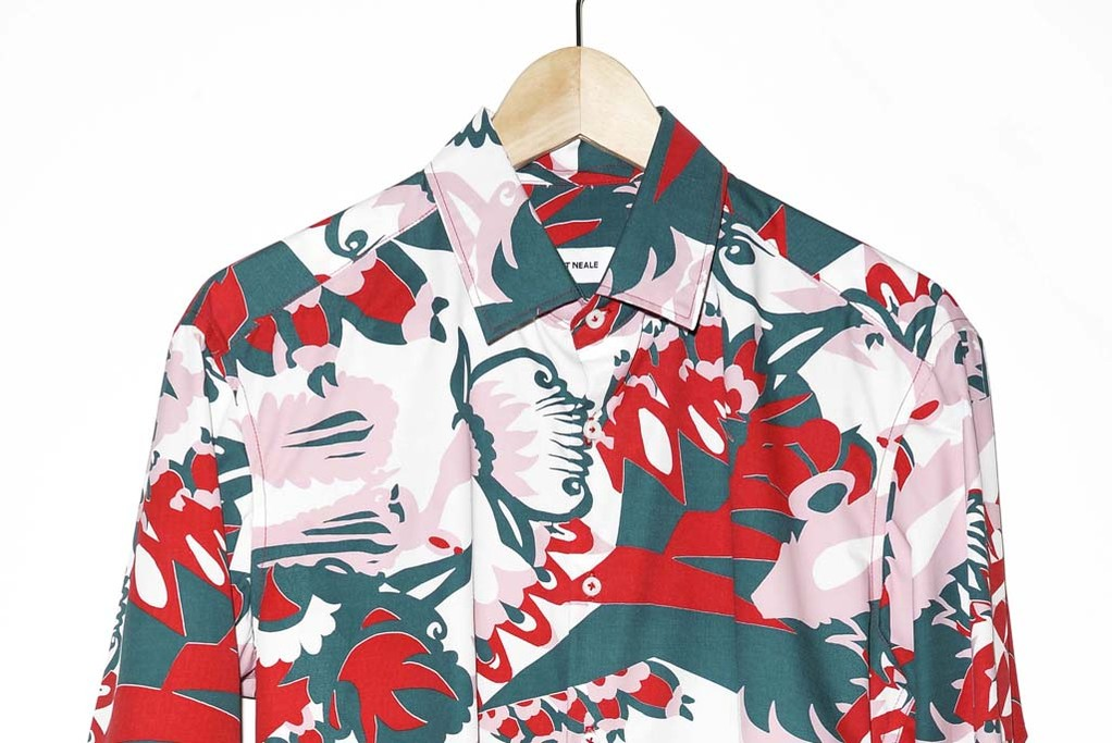 A printed shirt from Kit Neale.