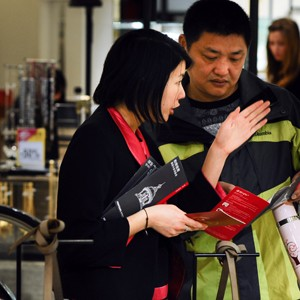 A Chinese shopper at Printemps in Paris.