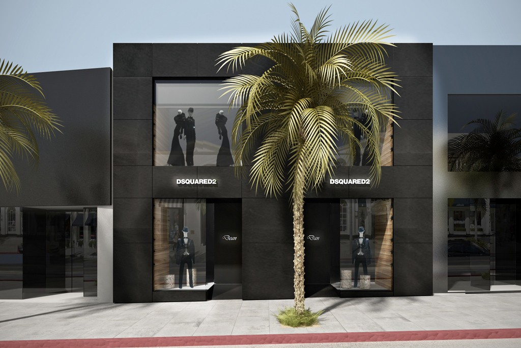 A rendering of the DSquared2 store in Los Angeles.