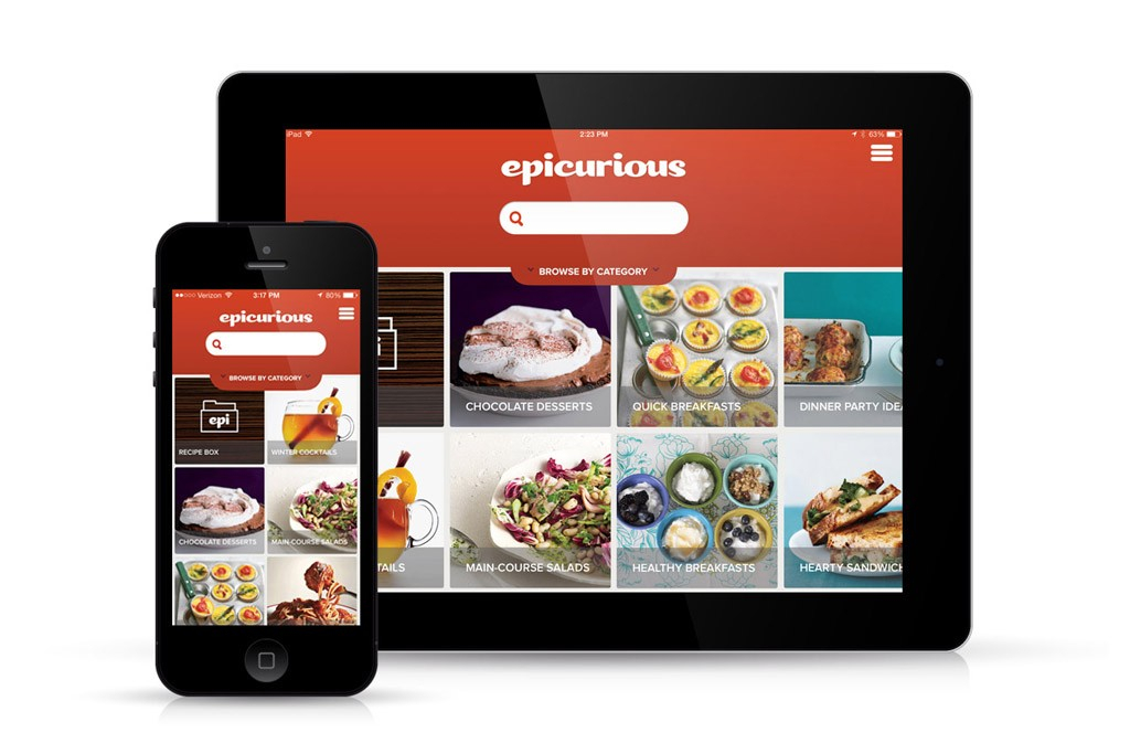 Epicurious' app for the iPad and iPhone.