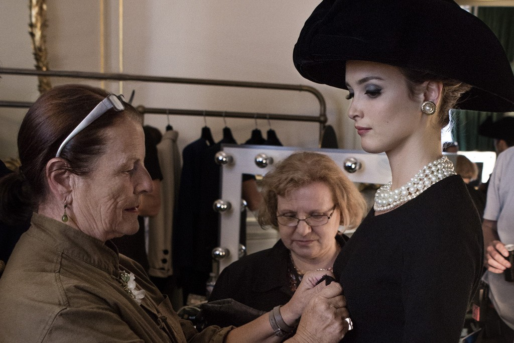 """Members of the Fondation Pierre Bergé — Yves Saint Laurent on the set of """"Yves Saint Laurent."""""""