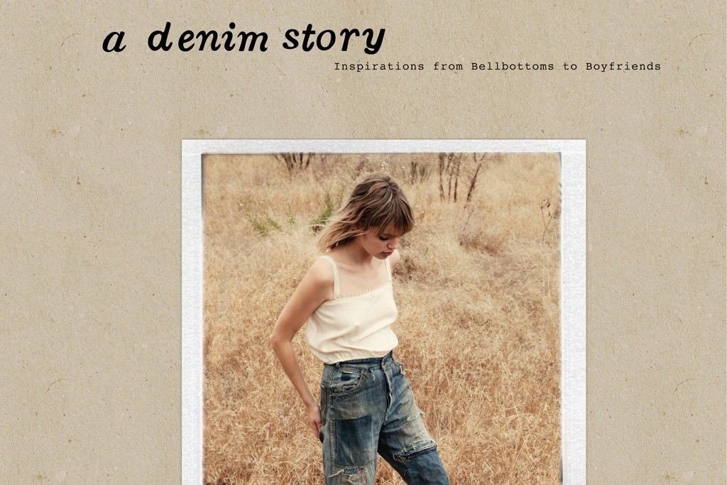 "A Denim Story: The cover of ""A Denim Story: Inspirations from Bellbottoms to Boyfriends,"" written by Emily Current, Meritt Elliott and Hilary Walsh."