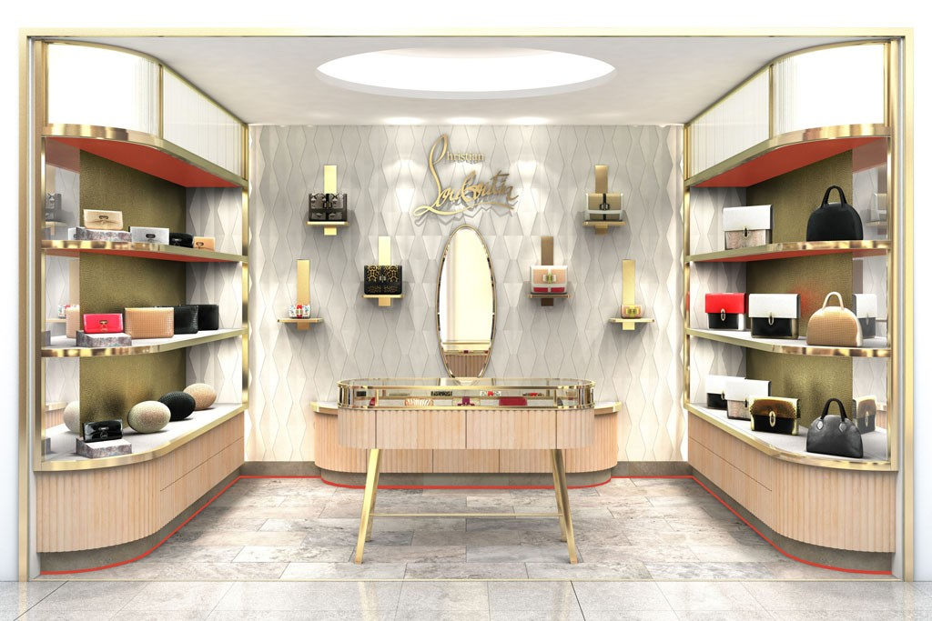 A rendering of the Christian Louboutin concession at Harvey Nichols.