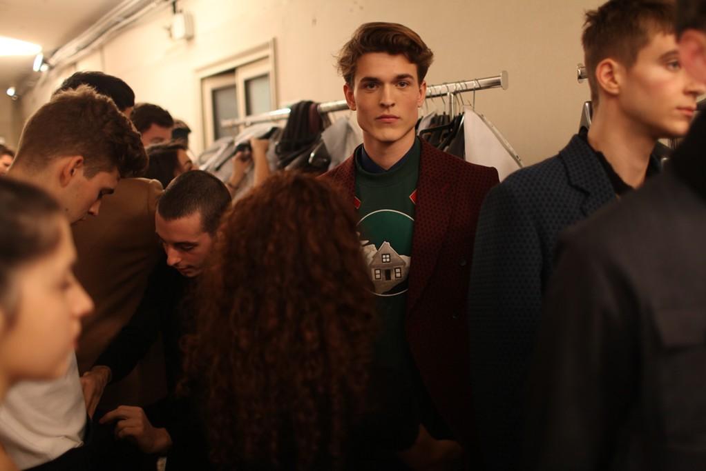 Backstage at Andrea Incontri Men's RTW Fall 2014