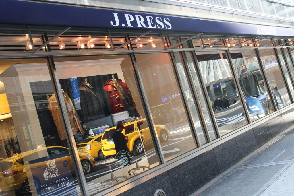 Exterior of J. Press' Madison Avenue store.