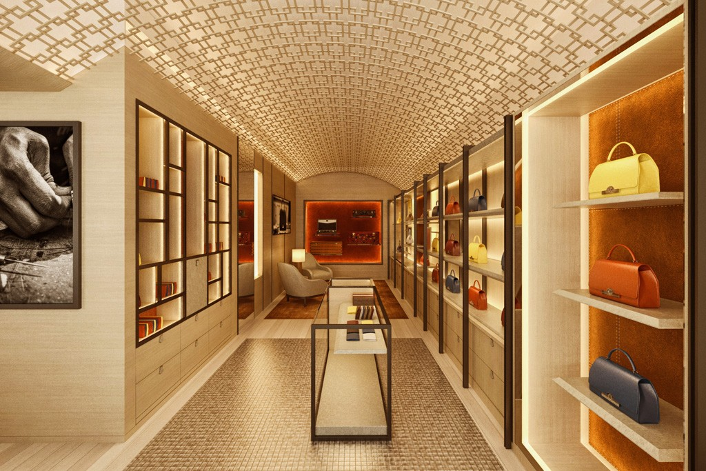 A rendering of the forthcoming Moynat store in London.