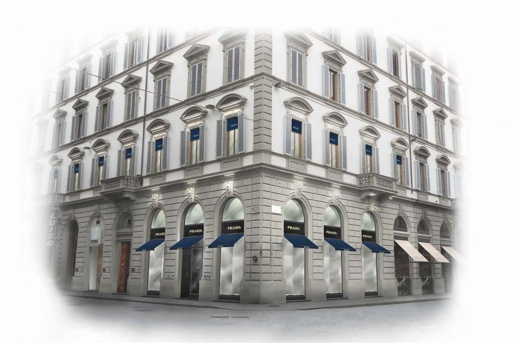 A rendering of the Prada store in Florence.