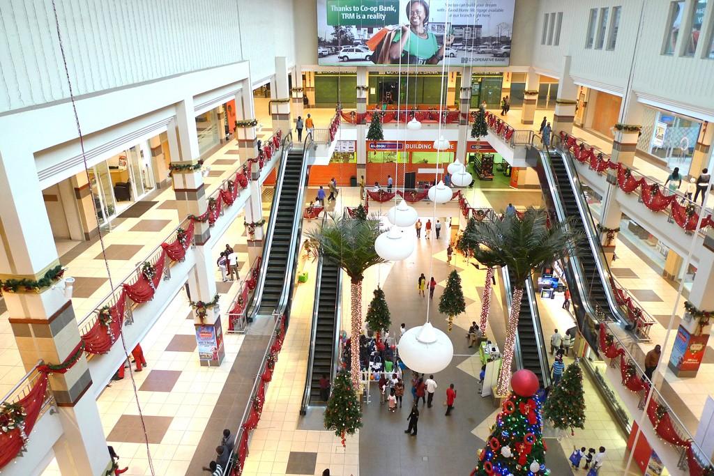 Inside Thika Road Mall.