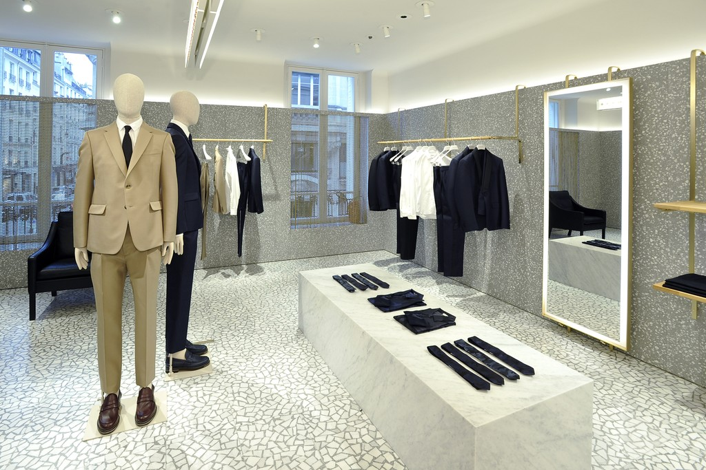 A view of the Valentino men's-only flagship in Paris.
