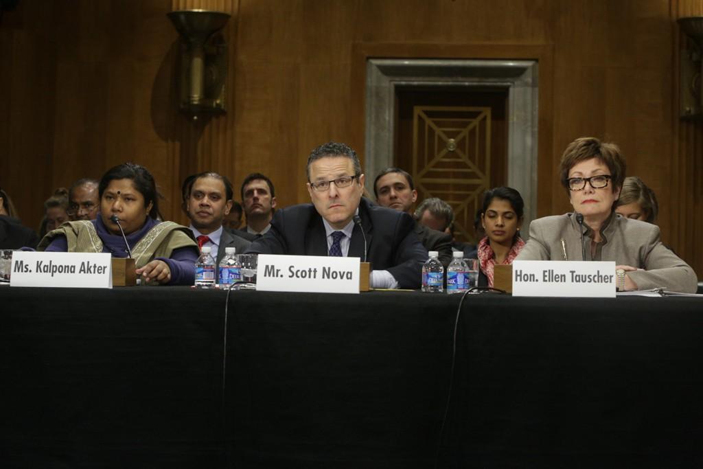 Kalpona Akter, Scott Nova, and Ellen Tauscher.
