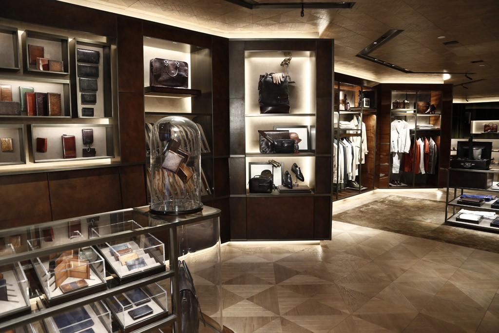 The Berluti store on Madison Avenue in New York.