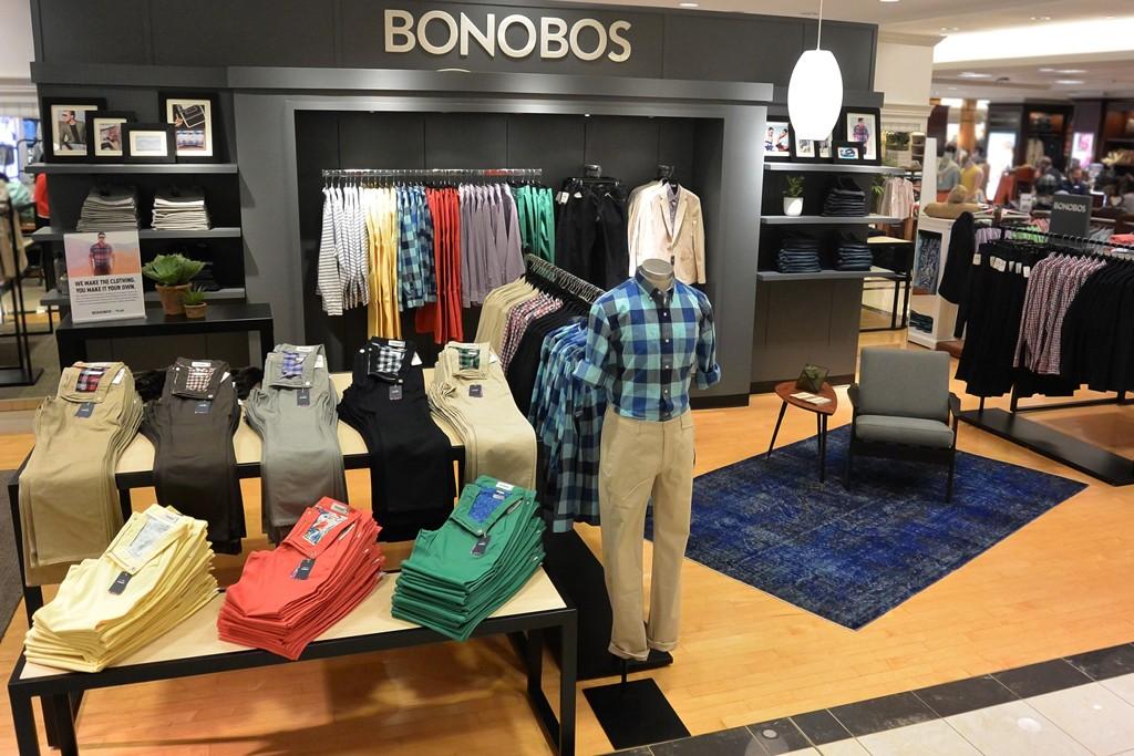 Bonobos' shop in shop in Belk.