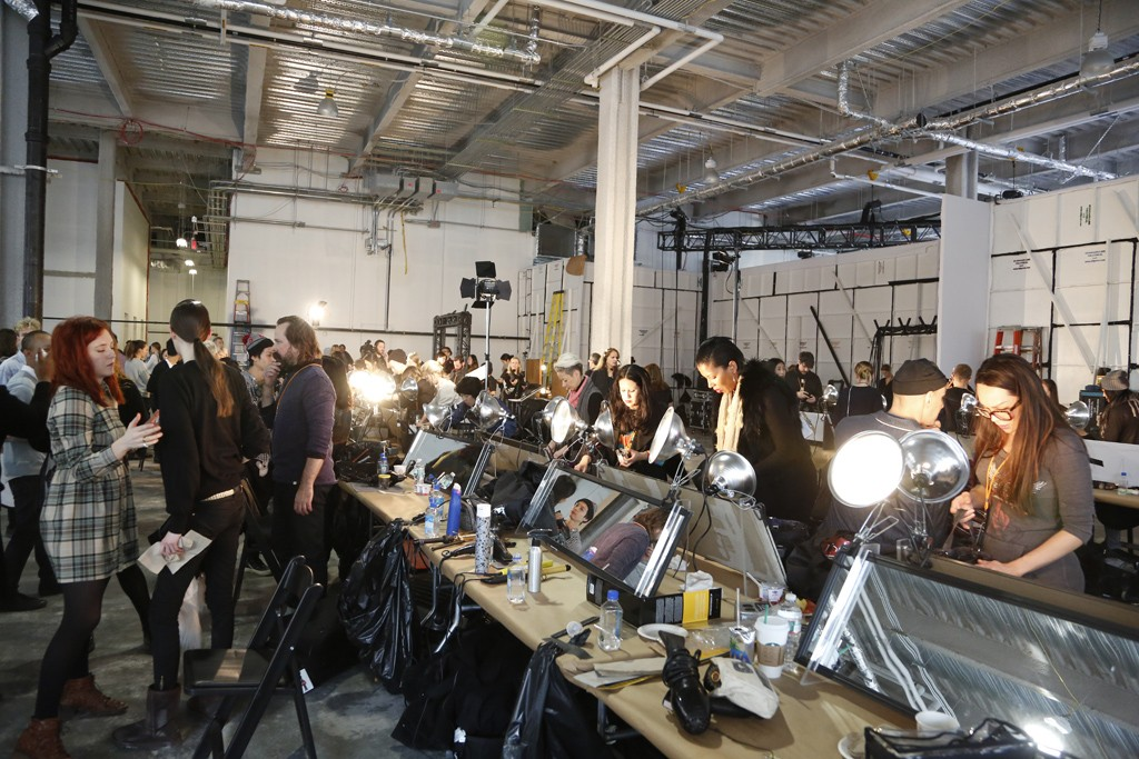 Backstage at Hugo Boss RTW Fall 2014